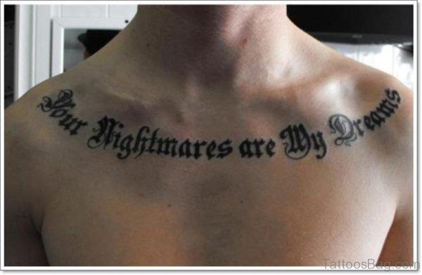 Attractive Wording Tattoo