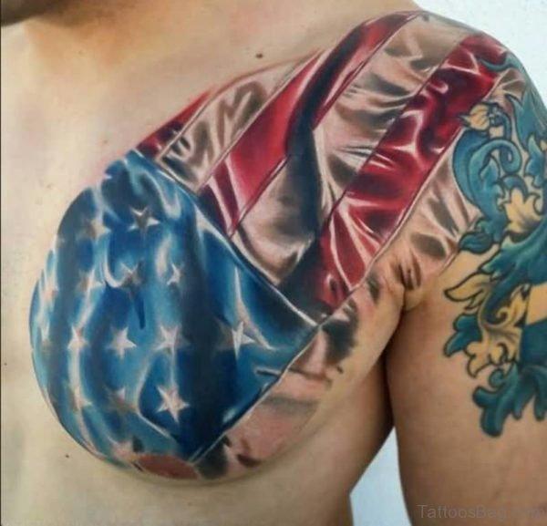 Awesome Army Flag Tattoo