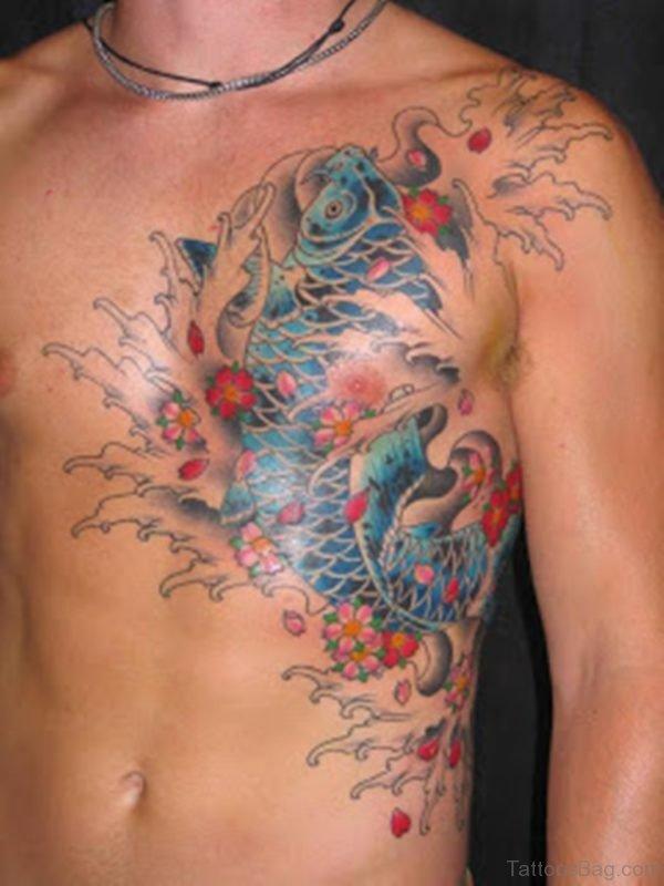 Awesome Asian Koi Fish Tattoo