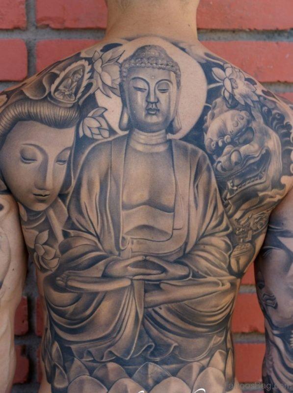 Awesome Buddha Tattoo Design
