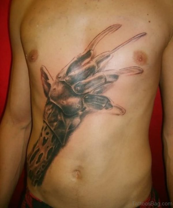 Awesome Claw Tattoo On Chest