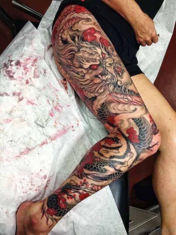 Awesome Dragon Tattoo