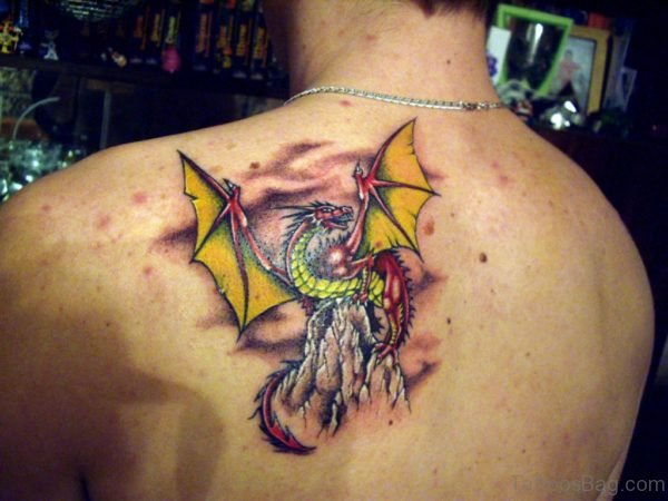 Awesome Dragon Wings Tattoo