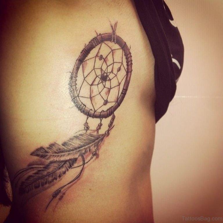 Dream Catcher Tattoo On Rib Cage 40 Ravishing Dreamcatcher Tattoos On Rib 17