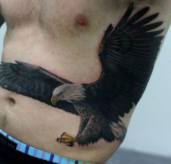 Awesome Eagle Tattoo On Rib