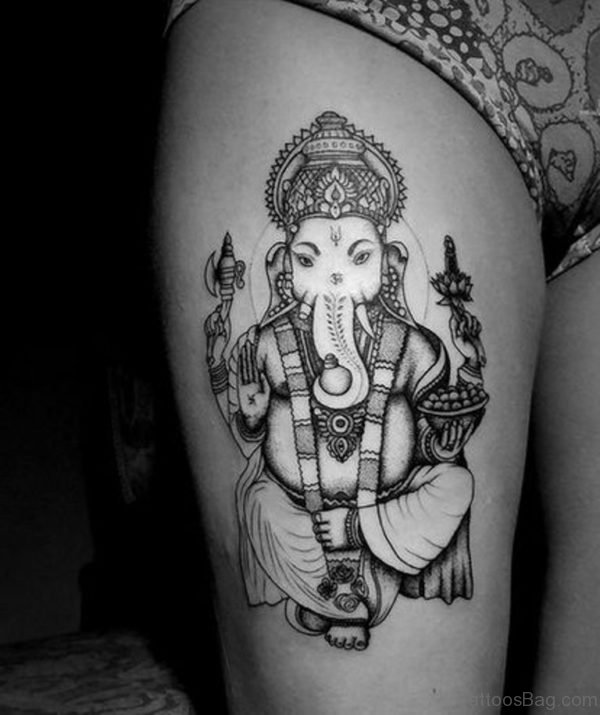 Awesome Ganesha Tattoo