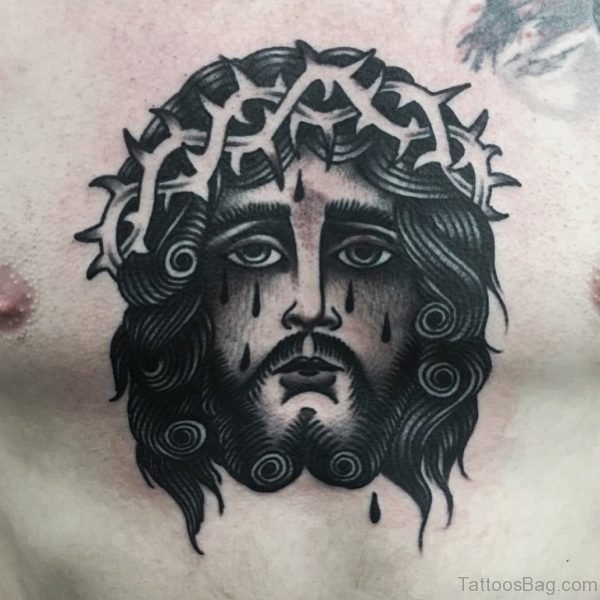 Awesome Jesus Chest Tattoo
