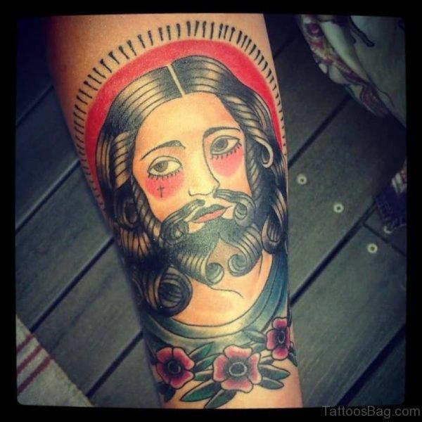 Awesome Jesus Tattoo Design