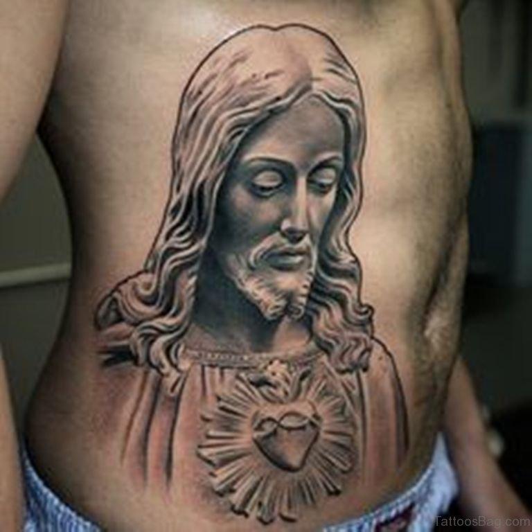 30 Best Jesus Tattoos On Rib