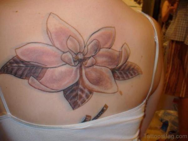 Awesome Magnolia Tattoo on Back