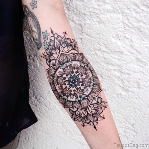 Awesome Mandala Forearm Tattoo