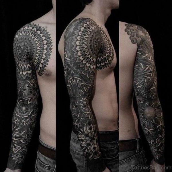 Awesome Mandala Tattoo On Full Sleeve