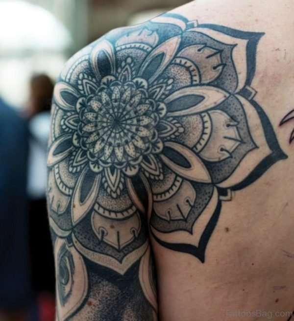 Awesome Mandala Tattoo On Shoulder