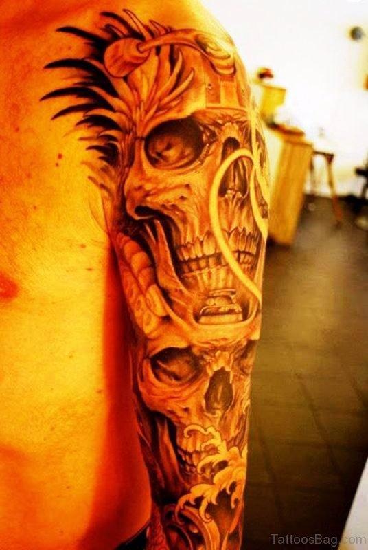 Awesome Men Skull Tattoo