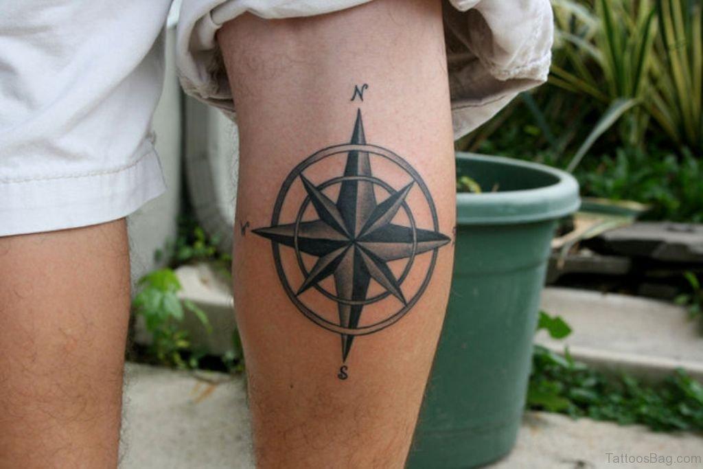 62 Nice Star Tattoos For Leg