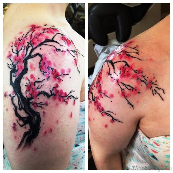 Awesome Pink Cherry Blossom Tree Design