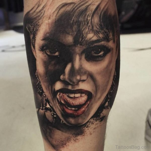 Awesome Portrait Girl Tattoo Design
