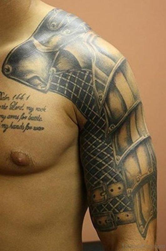 Attractive Armor Tattoo