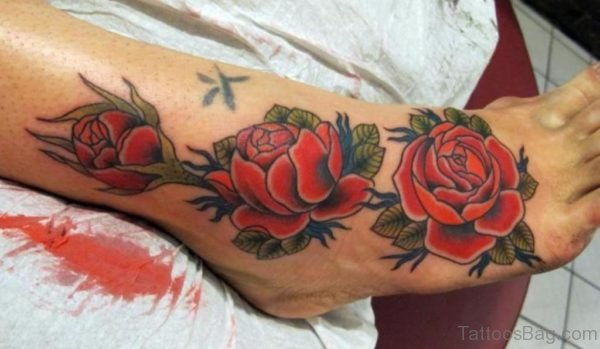 Awesome Rose Tattoo Image