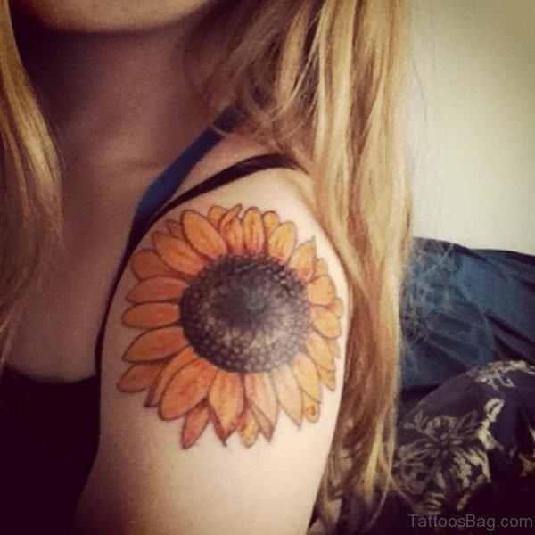Awesome Sunflower Tattoo
