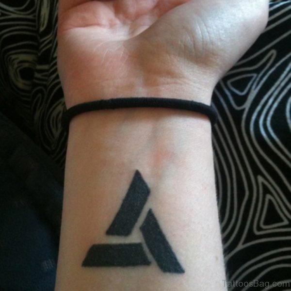 Awesome Triangle Tattoo On Wrist