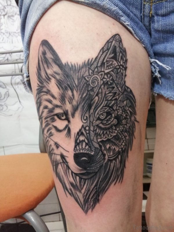 Awesome Wolf Tattoo