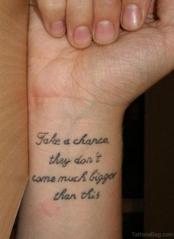 Awesome Wording Tattoo
