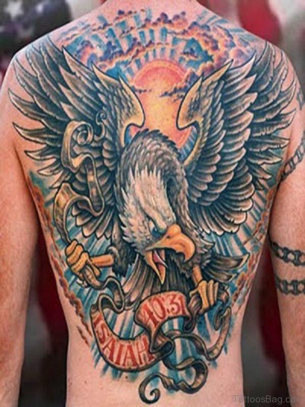Awful Eagle Tattoo Design