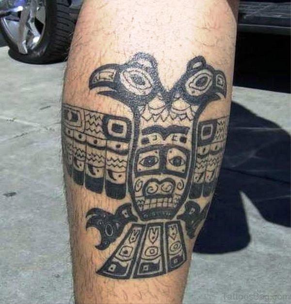 Aztec Art Shoulder Tattoo