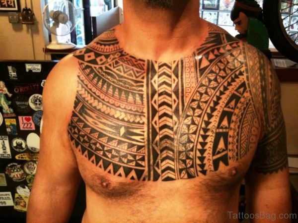 Aztec Chest Tattoo Design