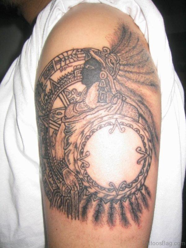 Aztec Mask Tattoo