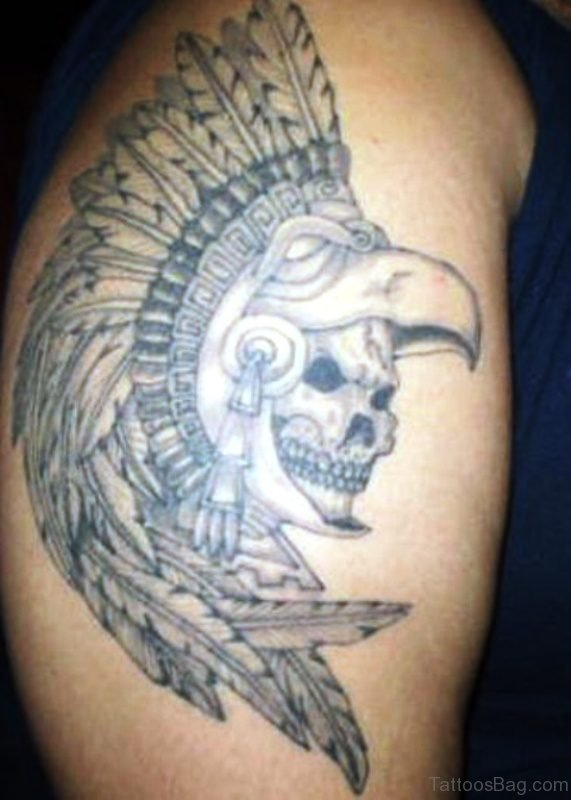 Aztec Native Shoulder Tattoo