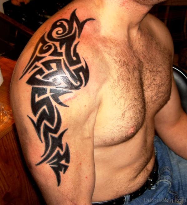 Aztec Realistic Shoulder Tattoo