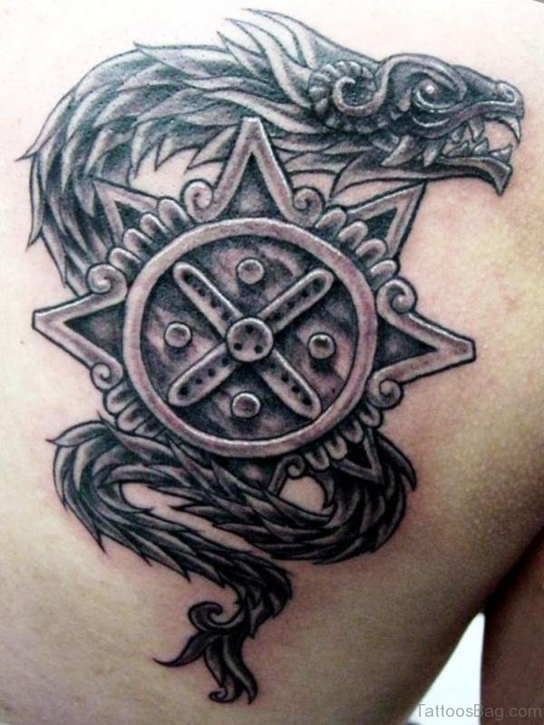 Aztec Serpent Tattoo