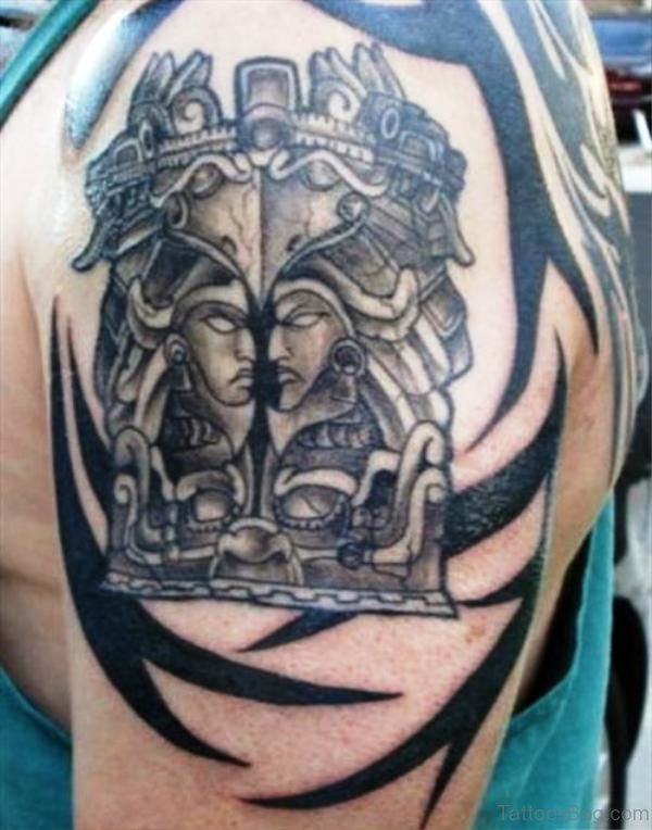 Aztec Shoulder Tattoo