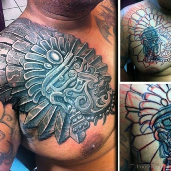Aztec Tattoo Chest For Men