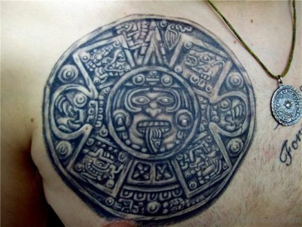 Aztec Tattoo For Chest