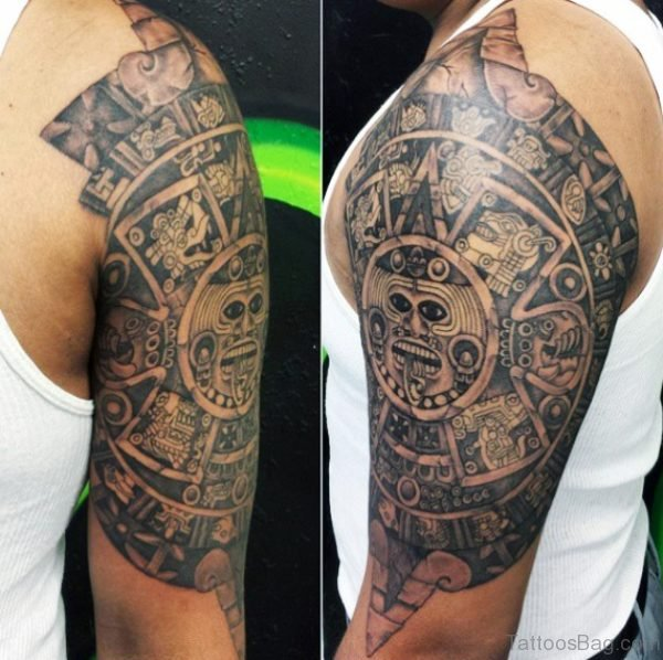 Aztec Tribal Tattoo For Man