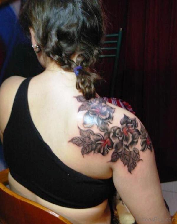Back Flowers Tattoo Design