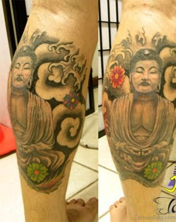 Back Leg Buddha Tattoo