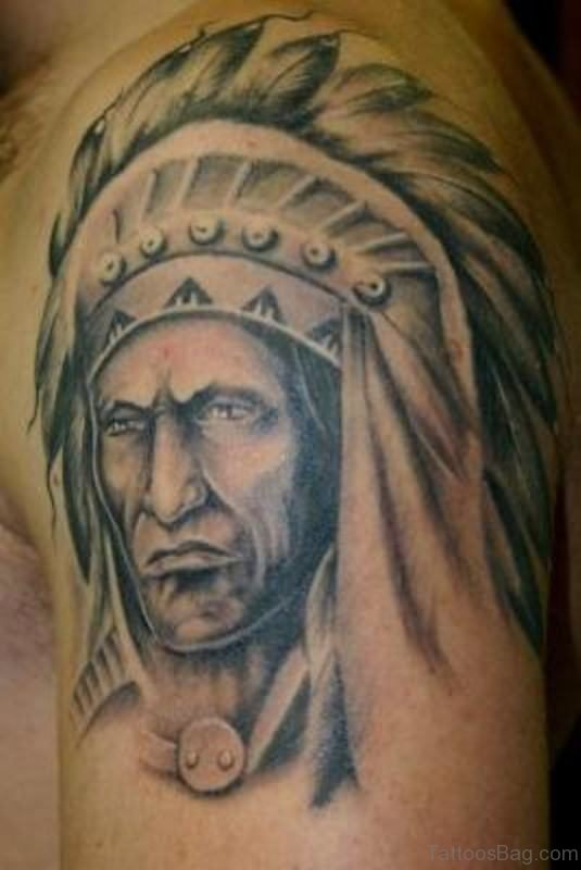 Black American Native Man Tattoo