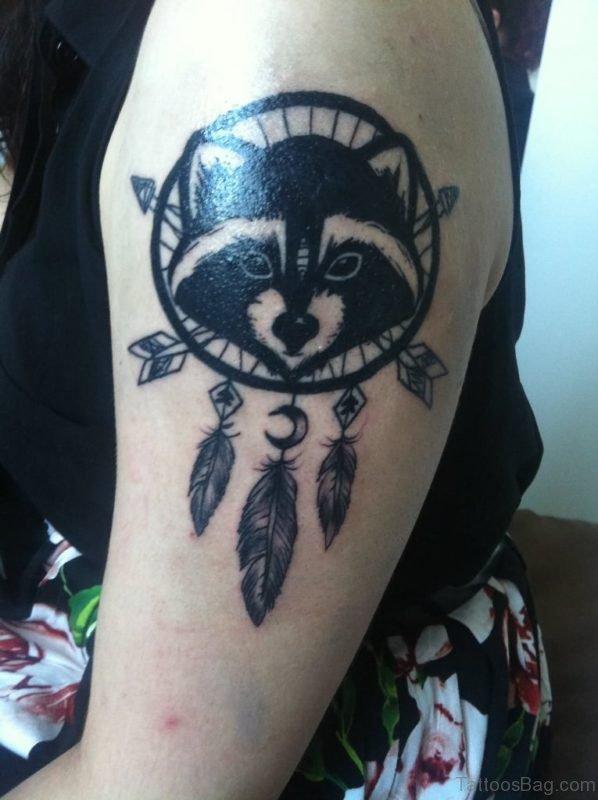 Balck Dreamcatcher Tattoo