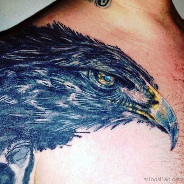 Black Native Eagle Shoulder Tattoo Design