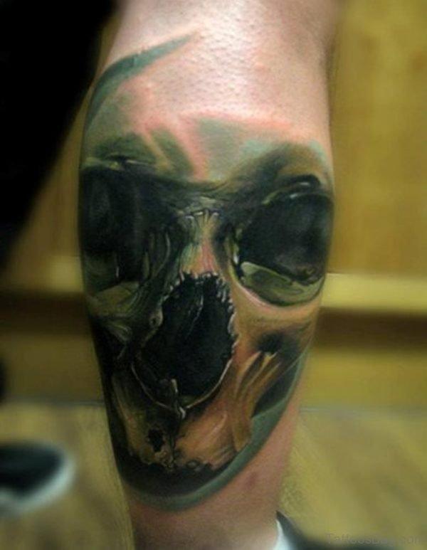 Balck Skull Tattoo Design