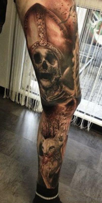 Balck Skull Tattoo Image