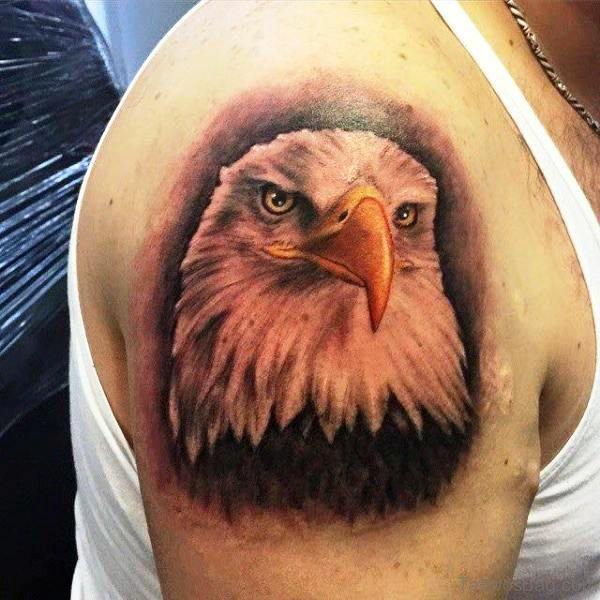 Bald Eagle Shoulder Tattoo