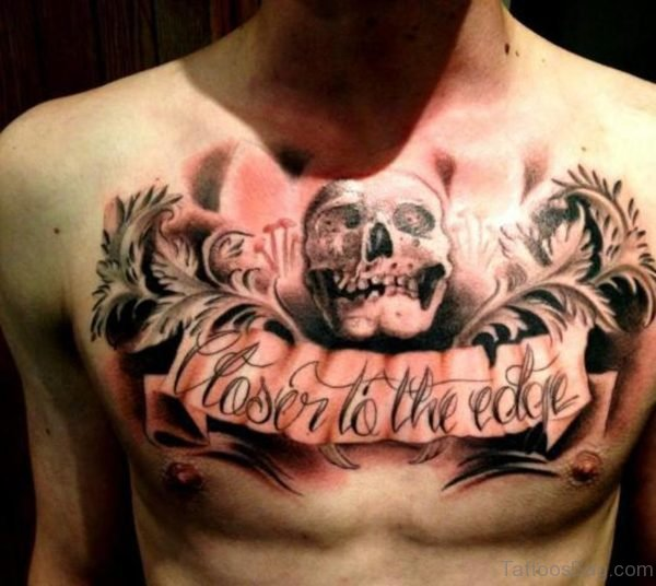 Banner And Skull Tattoo