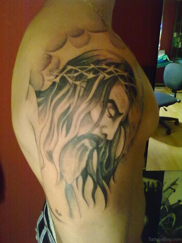 72 Stylish Jesus Tattoos For Shoulder