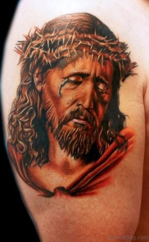 Barbed Jesus Tattoo
