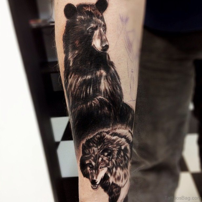 Home Design Ideas Classy: 50 Exclusive Wolf Tattoos For Arm